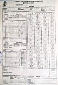 Δούκας 60 - 88 Περιστέρι - τελικός πρωταθλήματος Εφήβων ΕΣΚΑ - φύλλο αγώνος